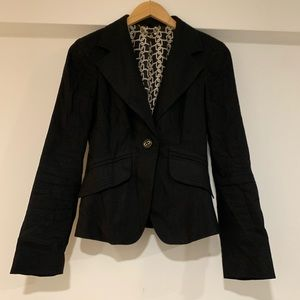 Bebe black fashion blazer
